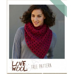 Halsdoek in Love Wool van Katia