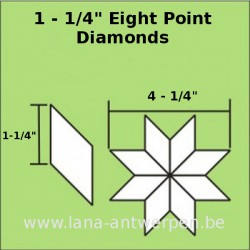 "Eight pointed Diamond 1 1/4"" (50 stuks)"