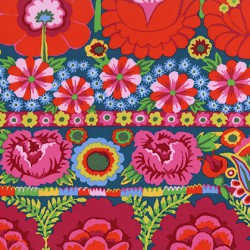 Embroidered Flower Border (PWKF001.RED)
