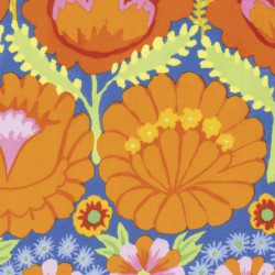 Embroidered Flower Border (PWKF001.ORANGE)