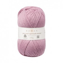 Pure Wool Worsted Mauve...