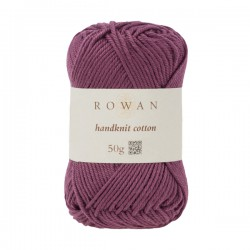 Handknit Cotton Aubergine...