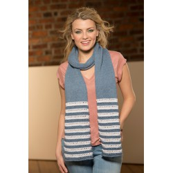 Lina Scarf in Rowan Cotton...