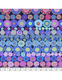 Row Flowers - Patchworkstof ontworpen door Kaffe Fassett