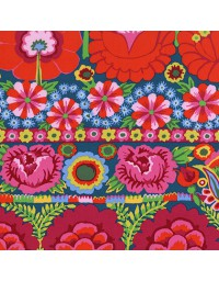 Embroidered Flower Border - Patchworkstof uit de Artisan collectie