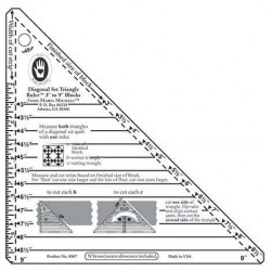 Small Diagonal Set Triangle Ruler - Marti Michell