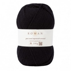 Pure Wool Worsted Black (109)