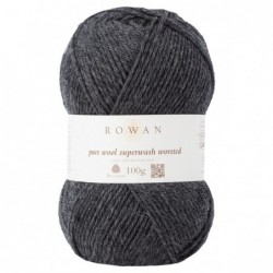 Pure Wool Worsted Charcoal...